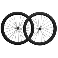 25mm Clincher Disc Brake Road Bike Wheels 50mm Carbon Fiber Wheelset  UD MATT