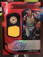 AARON HOLIDAY 2019-20 Certified Fabric Of The Game Res Auto /99 GAME WORN 🔥🔥🔥