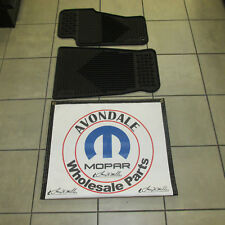 1999-2004 Jeep Grand Cherokee WJ Black Rubber Floor Slush Mats Mopar OEM