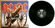 """NM/NM! AC/DC BIG GUN - BACK IN BLACK - FOR THOSE ABOUT TO ROCK 12"""" VINYL"""