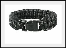 916 Rothco Black w/ Reflective Paracord Bracelet 8' length