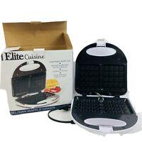 Elite Cuisine Maxi-Matic EWM9008K Belgian Waffle Maker, White