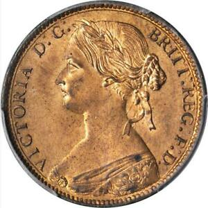 1860 Mint State Queen Victoria Penny PCGS MS64