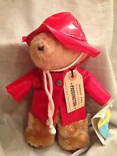 Paddington Bear Red Rain Coat Darkest Peru London England Plush Vintage 1975