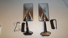 """HOT ROD, RAT ROD, FORD, 2, PAIR RECTANGLE 6"""" LONG ARM PEEP OUTSIDE DOOR MIRROR"""