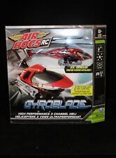AIR HOGS R/C HELICOPTER GYROBLADE -3 Channel Heli - Red  New in Box