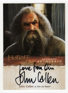 The Hobbit : The Desolation of Smaug - John Callen as Oin 'Love from Oin' JC