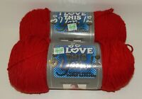 2 NEW Skeins I Love This Yarn Super Soft Yarn - Red