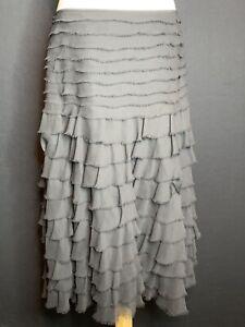 Per Una Ladies Black  Layered Skirt Size 14 (F3)
