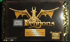 2002 MegaBloks DRAGONS GOLD Dragon Tower 9896 Collector's Edition Set SEALED