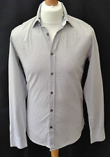 Mens - Ted Baker - London - Grey - Gingham Check - Long Sleeve Shirt - Size 2