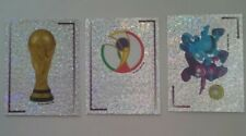 Panini World Cup stickers Japan Korea 2002 foil badges # 1,2,3 Mint