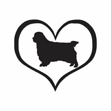 Love Clumber Spaniel Dog Heart - Decal - Multiple Color & Sizes - ebn1442