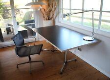 Schreibtisch USM Haller KITOS Gestell+neue Platte Lampert Eiermann schwarz/Birke