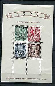 Estonia Estland 1939 Mi Block 3 Sc B44A MH Charity ball CV €110 e1423b
