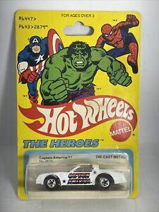 Hot Wheels The Heroes Captain America 1977 unopened