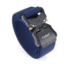 Men Outdoor Tactical Belt Canvas Nylon Magnet Buckle Belt Military Training Belt