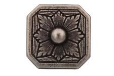 eckige silber geschwärzt Metallknöpfe Trachten historisch 18mm 6 Stück