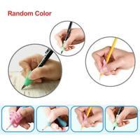 Fingergriff Silikon Kind Stift Stifthalter Hilfe Schreibwerkzeug zufällige K8D1
