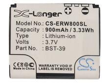 Battery for Sony Ericsson W910i  W580i  W700i  W700c  V630i  W600c  PN:BST-39