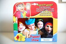HAND PUPPET SNOW WHITE AND THE SEVEN DWARFS THEATRE PUPPET SHOW 4 CHARACTERS NEW