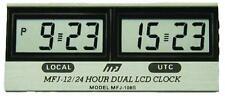 MFJ-108B Clock, 12/24-hour, LCD, Dual