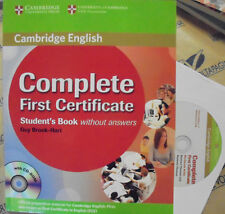 COMPLETE FIRST CERTIFICATE STUDENT' S BOOK without ANSWERS con Cd - CAMBRIDGE