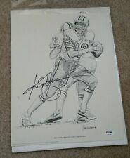Ken Stabler signed 14x11 Shell Oil Print 1981 psa dna