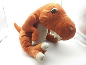 "2013 Geoffrey / Toys R Us 16"" Orange T-Rex Dinosaur Dino Stuffed Plush Toy"