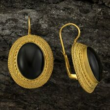 Prince Albert Onyx Earrings: Museum of Jewelry