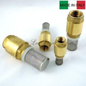 """Valvola di fondo EUROPA ITAP  1/2"""" 3/4"""" 1"""" 1""""1/4 valvola ritegno filtro inox"""