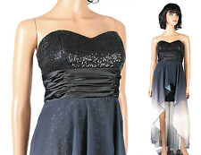 Speechless Prom Dress Jrs Sz 5 Black Sequins Gray White Chiffon Strapless Gown