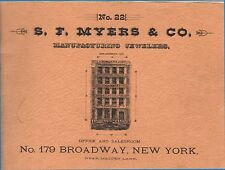 S. F. Myers & Co., 1885 Catalog Reprint -  - Pages of American Watch Movements