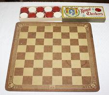 Vintage Set Of Royal Checkers Parker Bros In Original Box With Original Board