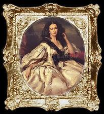 Portrait of a 1800's Lady  Miniature Dollhouse Picture