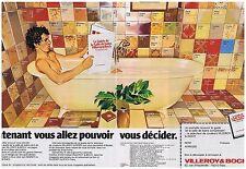 PUBLICITE ADVERTISING 054 1978 VILLEROY & BOCH baignoire salle de bain (2 pages)