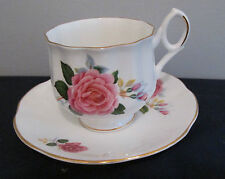ROYAL DOVER CHINA PATTERN RD01 ROSE CUP AND SAUCER PINK ROSE MADE IN ENGLAND