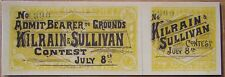 * Boxing Tickets 1870 - 1929 Dempsey Tunney Sullivan Johnson Loughran Corbett *