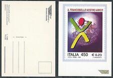 1999 ITALIA CARTOLINA POSTE FRANCOBOLLO NS AMICO 0,23 - D