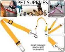Pet Dog Car Seat Belt Safety Ajustable Harnesses Lead Leash Clip Strap Jaune