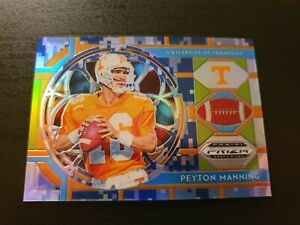 Peyton Manning 2019 Prizm Draft Picks Football Stained Glass Card Camo /25 Vols