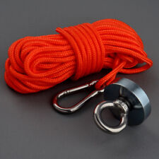 Round Strong Neodymium Magnets Rope 265lbs Pulling Force River Fishing Magnet