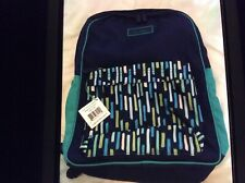NWT Vera Bradley Large Colorblock School Backpack/Book Bag Katalina Showers Blue