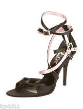 """Dior Silk Satin 4"""" Stiletto Heel with pink accent Size 38/8"""
