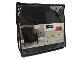 Sure Fit Designer Chocolate Chair Slipcover in Dark Indigo One Piece