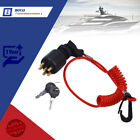 For OMC BRP Johnson Evinrude 5005801 Boat Ignition Switch Key w/Lanyard 1996 Up