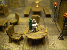 Round Table with 2 Chairs  Thomarillion Unpainted Metal Dwarven Forge D&D