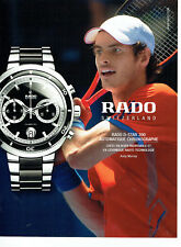 Publicité Advertising 078  2012   montre Rado  D-Star 200  & Andy Murray
