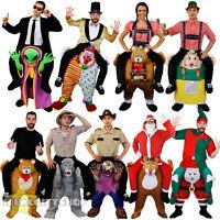 ADULTS PICK ME UP RIDE ON PIGGY BACK COSTUME CHRISTMAS FANCY DRESS FUNNY NOVELTY