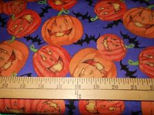 1 yard Happy Pumpkins Halloween Fabric